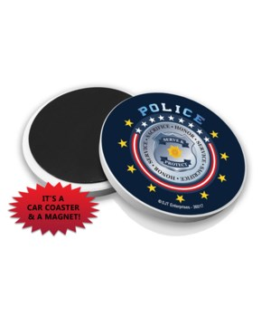Police Car Coaster Magnet