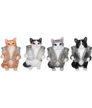 Cat Salt & Pepper Set - 4/A 7.25""