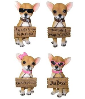 "4"" Ay Chihuahua! (4 Asst. Chihuahua w/Si"