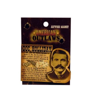 Doc Holliday Magnet 12PC