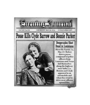 Bonnie & Clyde Magnet 12PC