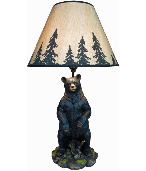 """Bear Lamp 26""""T (+shade)"""