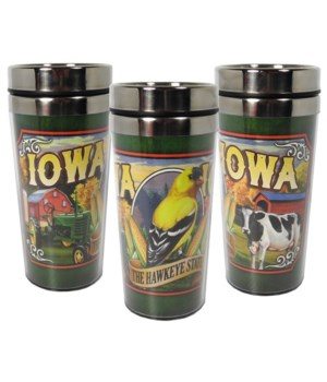 Iowa Mug Travel Mural 16oz