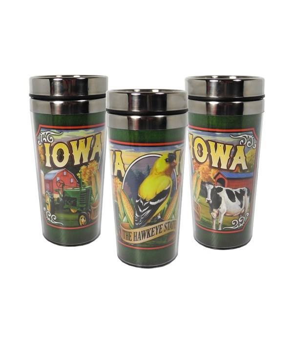 Iowa Mug Travel Mural 16oz