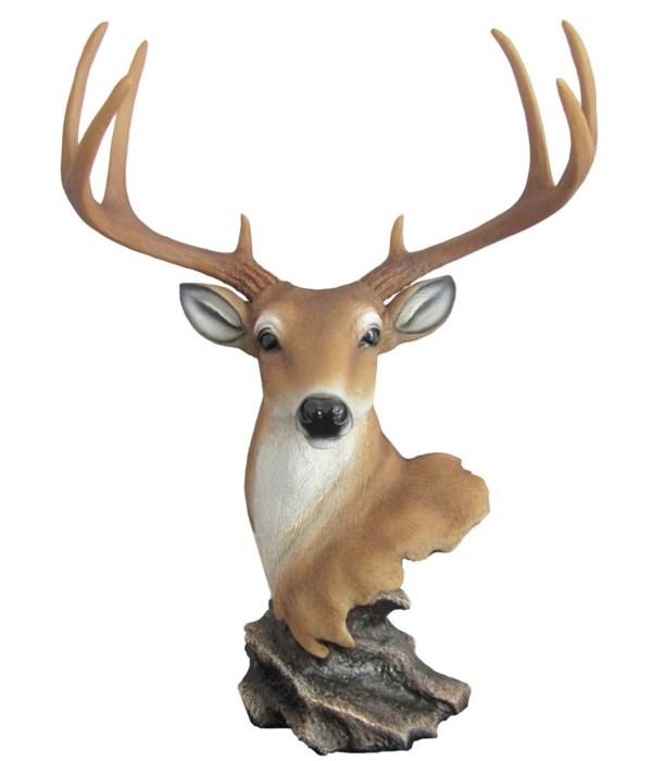"*16"" New Dawn (Deer Head on Rock)"
