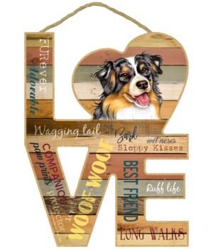 Love sign / Australian Shepherd / Aussie