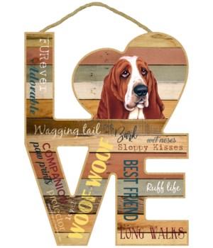 Love sign / Basset Hound