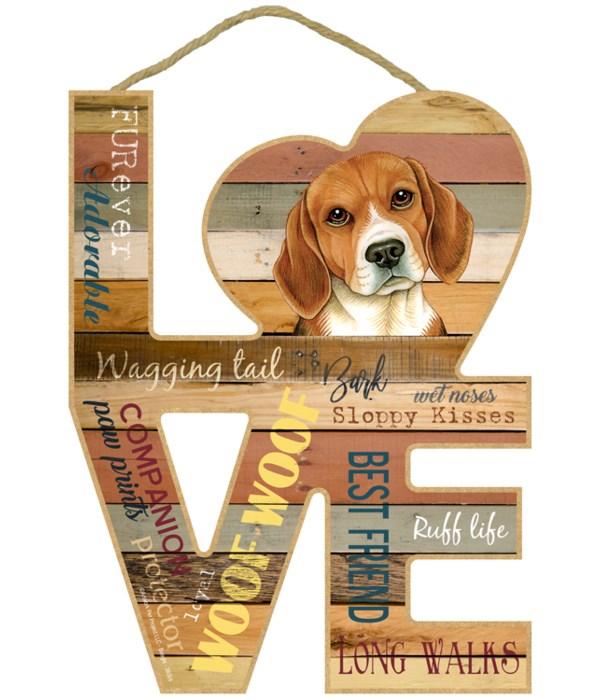 Love sign / Beagle