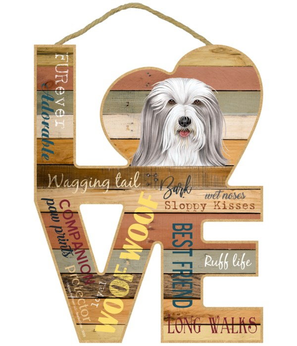 Love sign / Bearded Collie