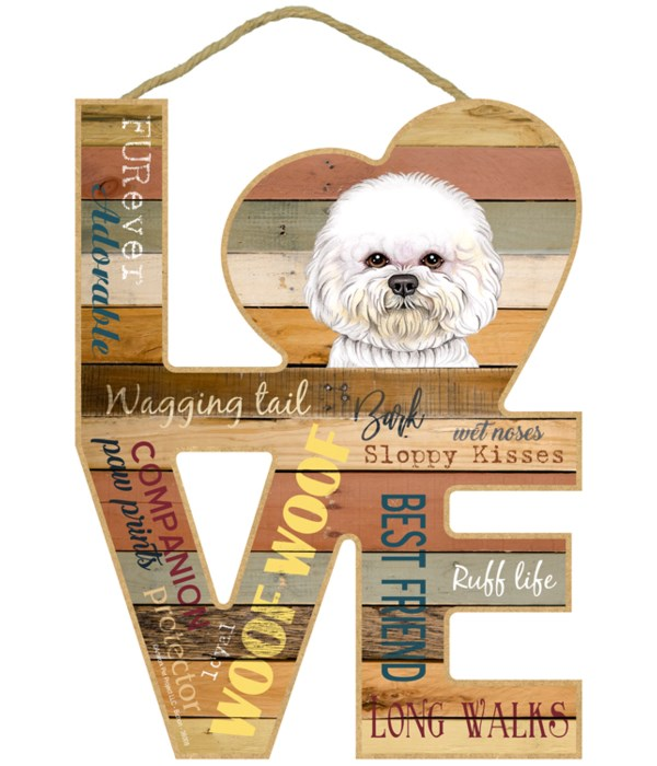 Love sign / Bichon