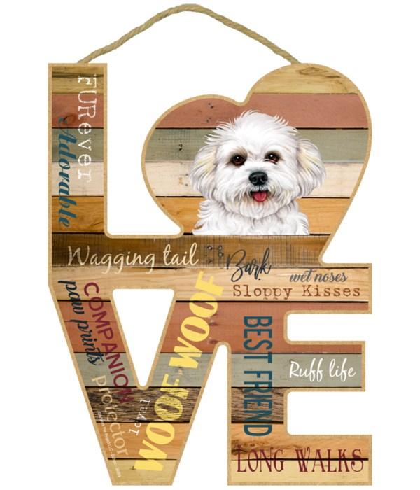 Love sign / Bichon Frise (puppy cut)