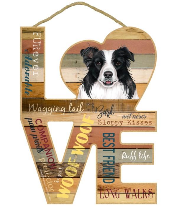 Love sign / Border Collie