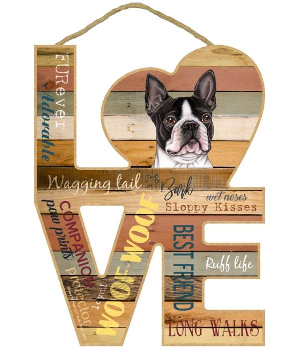 Love sign / Boston Terrier