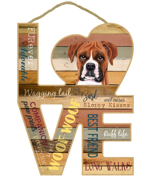 Love sign / Boxer (dropped ears)