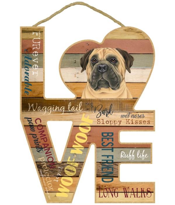 Love sign / Bull Mastiff