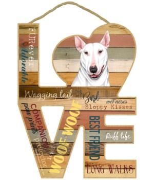 Love sign / Bull Terrier (White color)