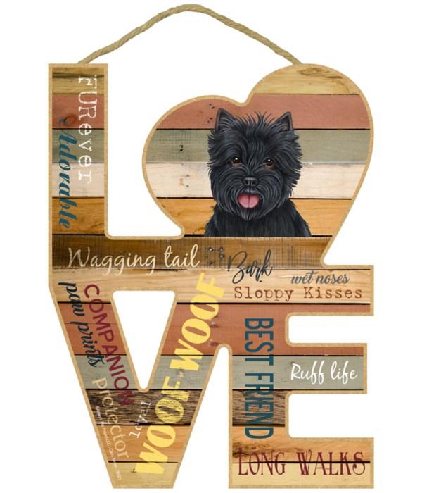 Love sign / Cairn Terrier (black)