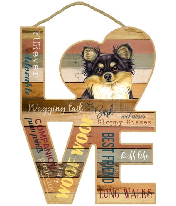 Love sign / Chihuahua (black and tan, lo
