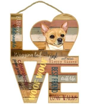 Love sign / Chihuahua (tan)