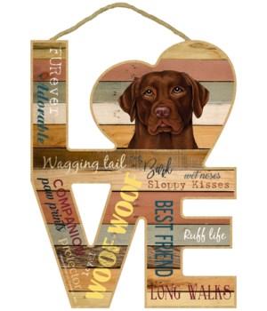 Love sign / Chocolate Lab