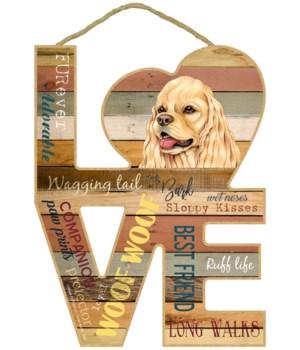 Love sign / Cocker Spaniel (American, ta