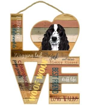 Love sign / Cocker Spaniel (black & whit