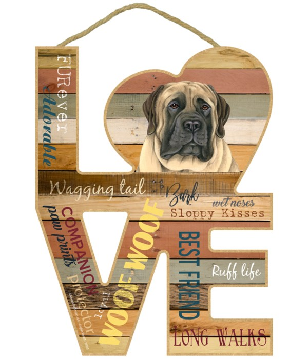 Love sign / English Mastiff