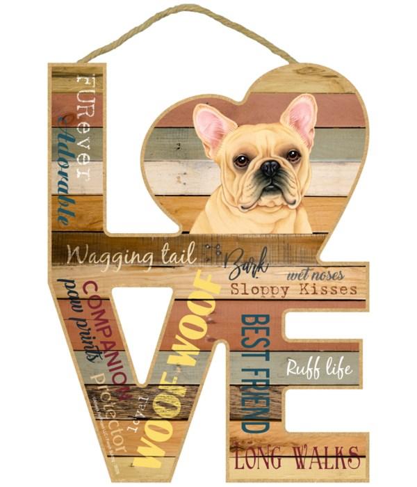 Love sign / French Bulldog