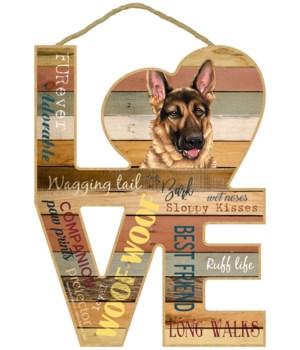 Love sign / German Shepherd