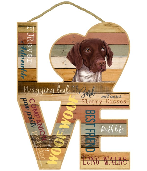 Love sign / German Shorthaired Pointer