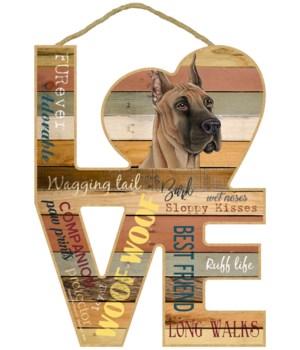 Love sign / Great Dane