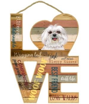 Love sign / Maltese (puppy cut)