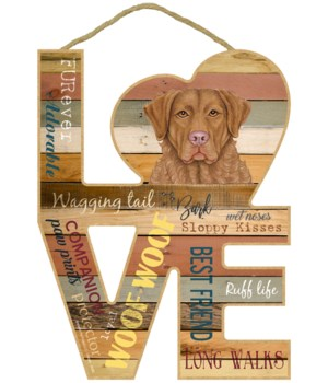 Love sign / Chesapeake Bay Retriever / C