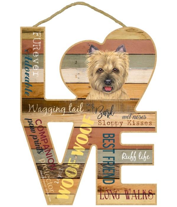 Love sign / Cairn Terrier (tan)