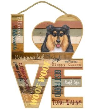Love sign / Collie (tri-colored)