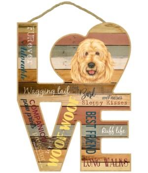 Love sign / Goldendoodle
