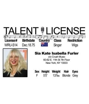 Sia Driver's License