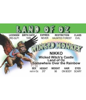 Flying Monkey of Oz ID