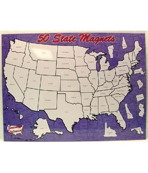 50 State Magnet Board