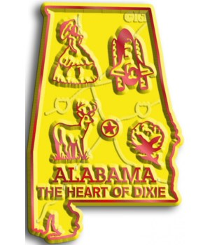 Alabama Map Magnet