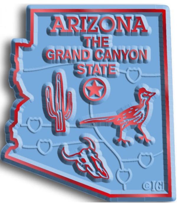 Arizona Map Magnet