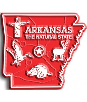 Arkansas Map Magnet