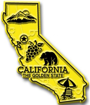 California Map Magnet
