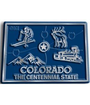 Colorado Map Magnet