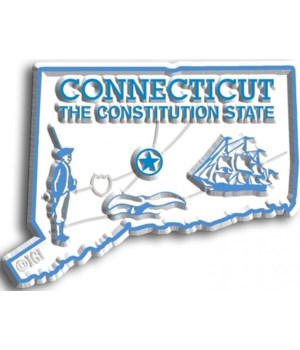 Connecticut Map Magnet