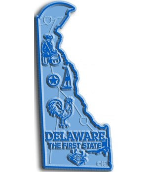 Delaware Map Magnet