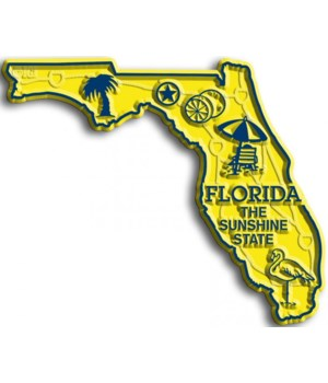 Florida Map Magnet