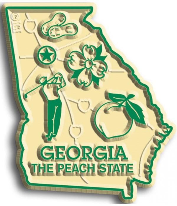 Georgia Map Magnet