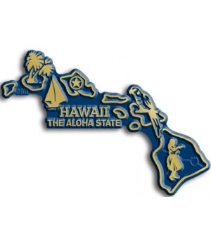 Hawaii Map Magnet