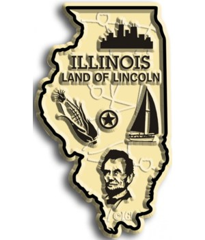 Illinois Map Magnet